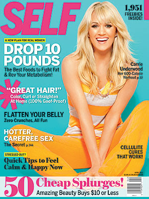 Carrie Underwood Self Magazine April 2012