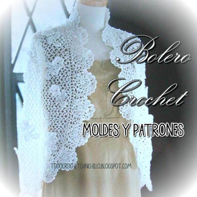 Delicado Bolero Crochet / Moldes y patrones | Todo crochet