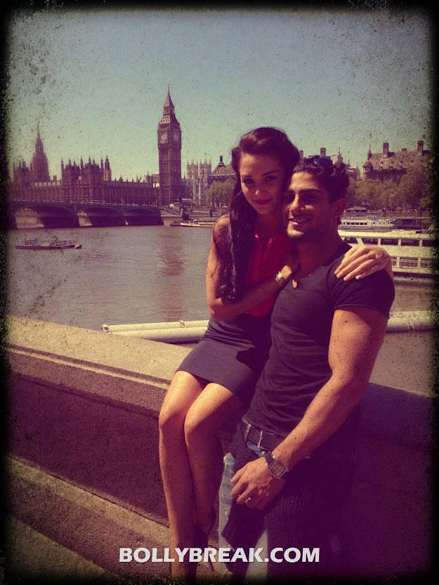 Amy jackson Prateik Babbar in London - Amy jackson Prateik Babbar in London