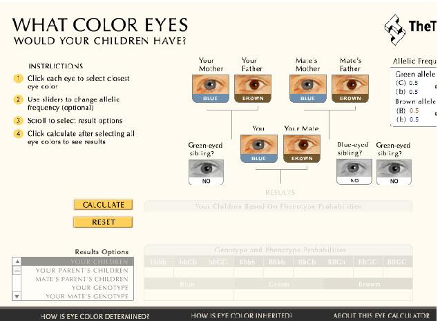 saber color ojos de tu bebe