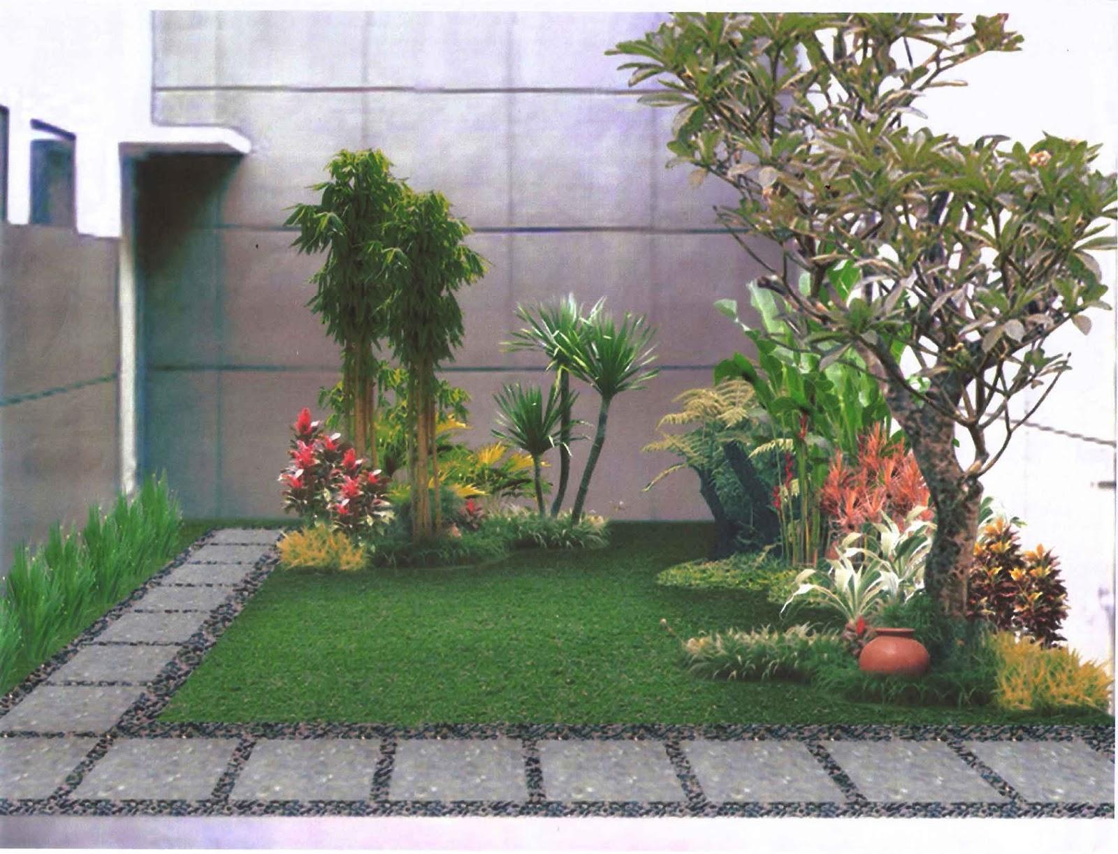 10 desain gambar taman rumah cantik modern sederhana dan - Suelos para jardines pequenos ...