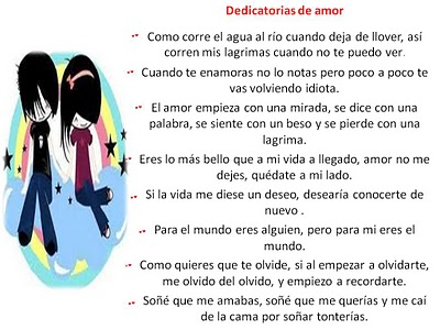 dedicatorias de amor