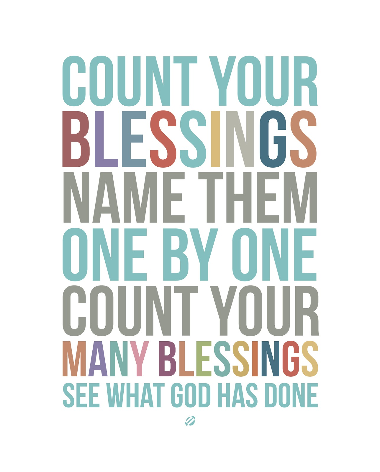 LostBumblebee 2013- COUNT YOUR BLESSINGS V2 - Free Printable
