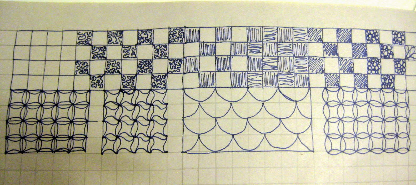 Quilting based on a grid