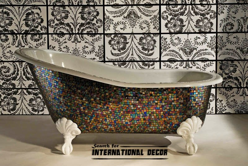 mosaic tile, mosaic tiles, mosaic art and designs,mosaic bathtub