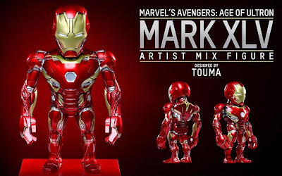 Marvel's Avengers Age of Ultron Artist Mix Figures Series 2 by Touma & Hot Toys - Iron Man Mark XLV Armor
