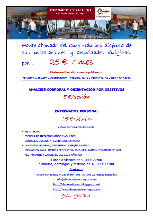 Club n utico zaragoza marzo 2014 - Club nautico zaragoza ...