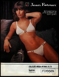 propaganda Jean Fabian - Lycra - Rosset - 1979. moda íntima anos 70. Oswaldo Hernandez.