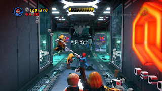 Screenshots of the LEGO: Marvel super heroes for Android tablet, phone.