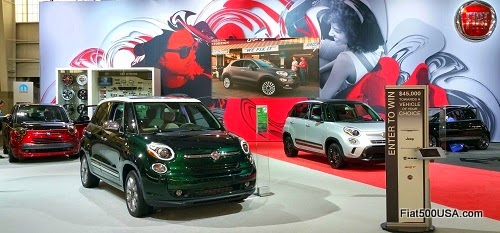 Fiat 500L Models at the NY Auto Show