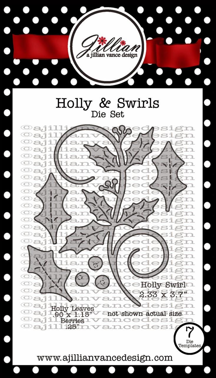 Holly & Swirls Die