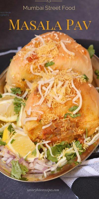 Masala Pav Recipe Mumbai Street Food Savory Bites Recipes