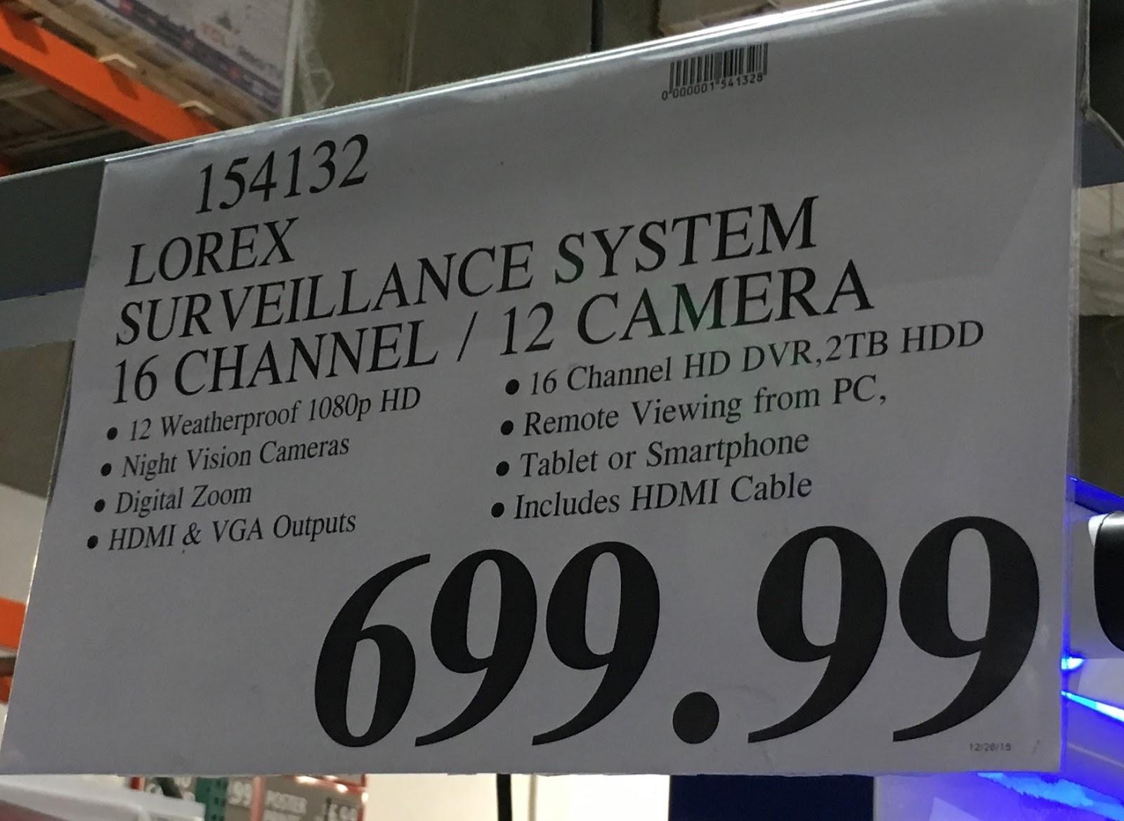 Lorex Lhv16212 Surveillance System Costco Weekender