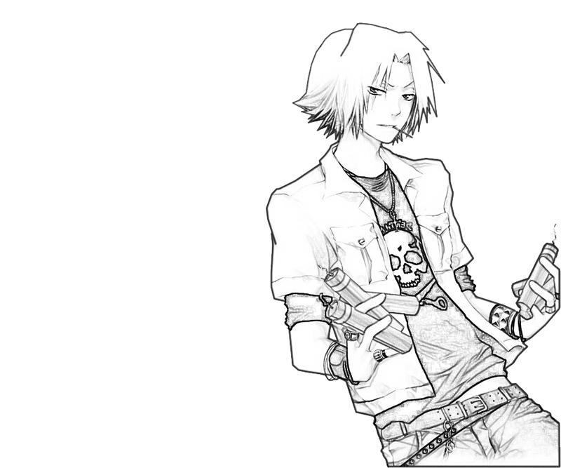 hayato-gokudera-dynamite-coloring-pages