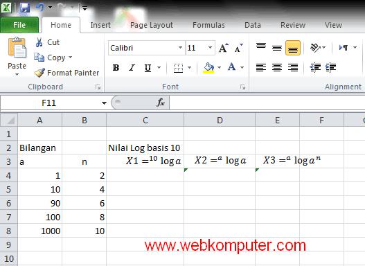 menghitung logaritma