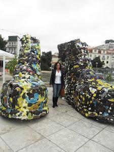Lixo vira arte