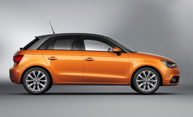 Audi A1 Sportback from the side