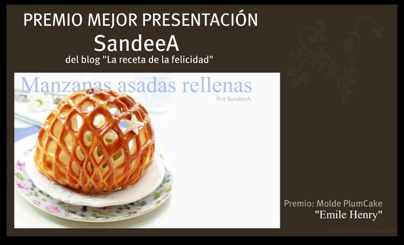 Premio a la presentación más original SandeeA - VelocidadCuchara.com