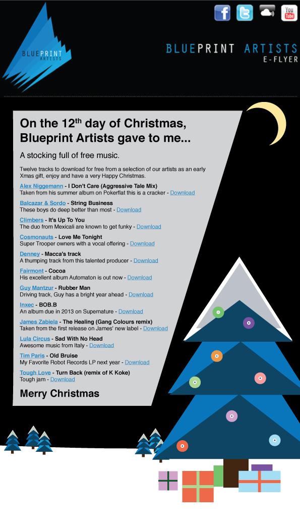 Electrnica roll el regalo de navidad de blueprint artists como podis comprobar la mayora de los temas son de este ao pero hay otros que son una autntica primicia haciendo click el siguiente enlace lo podeis malvernweather Image collections
