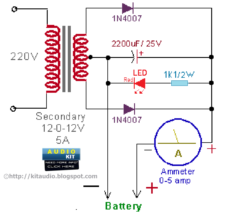 Solar 12v Battery Charger Circuit Diagram