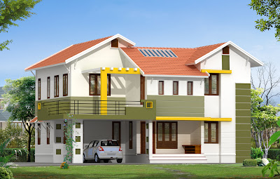 Modern House Elevation on 2430 Sqft Modern House Elevation From ...