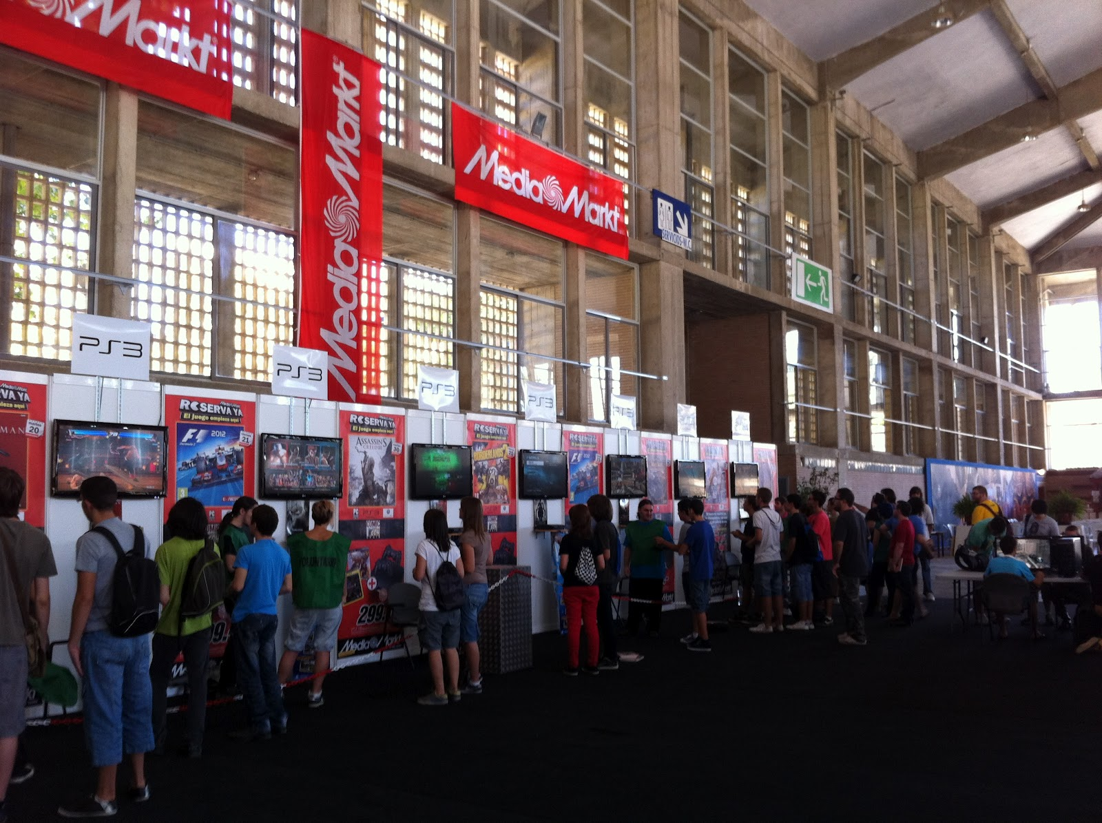 Área de Videojuegos en la 1ª Comic Con Spain de Jerez