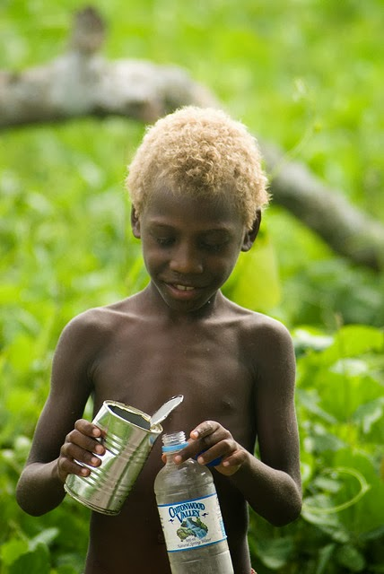 Aborigines And Melanesians Naturally Blonde Hair And Dark