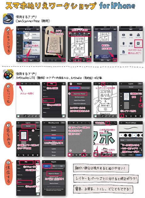スマホぬりえワークショップ for iPhone