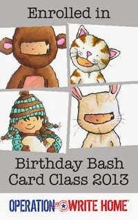 Birthday Bash Card Class