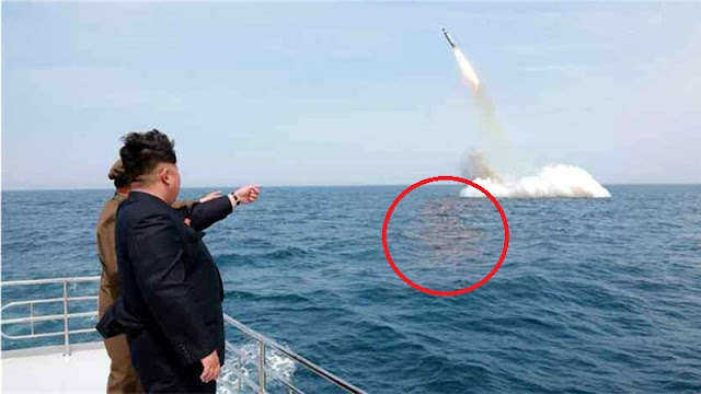 photoshopped North Korea missile launch