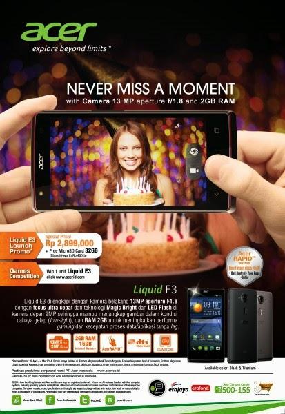Acer Liquid E3 Rp 2.899.000