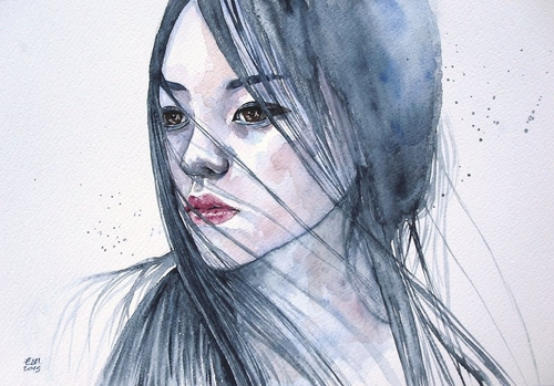 17-Stillness-Erica-Dal-Maso-Expressing-Emotions-Through-Watercolor-Paintings-www-designstack-co