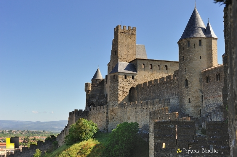 Le château comtal de Carcassonne photo pascal blachier