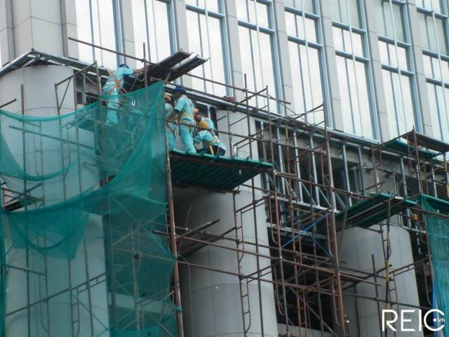 Tòa tháp văn phòng 'chuẩn A' Vietcombank Tower đang hoàn thiện