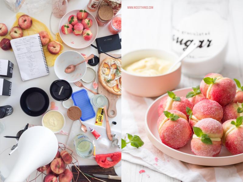 Fotoshooting Behind The Scenes Pfirsich Kekse
