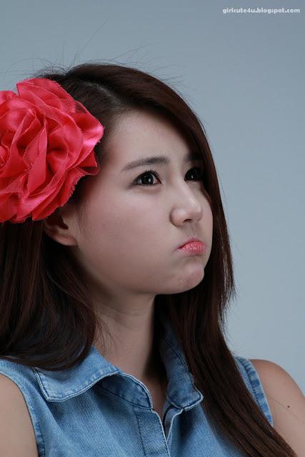 23 Han-Ga-Eun-Denim-Shirt-01-very cute asian girl-girlcute4u.blogspot.com