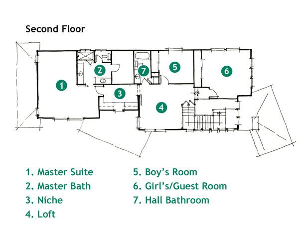 Modern furniture rendering and floor plan hgtv green for Green floor plans