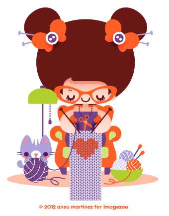 knitting-kawaii-scarfs-aneu-martinez-illustration-imagezoo