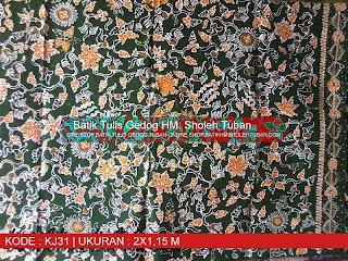 Batik Tulis Kerek, Motif Batik Tuban.
