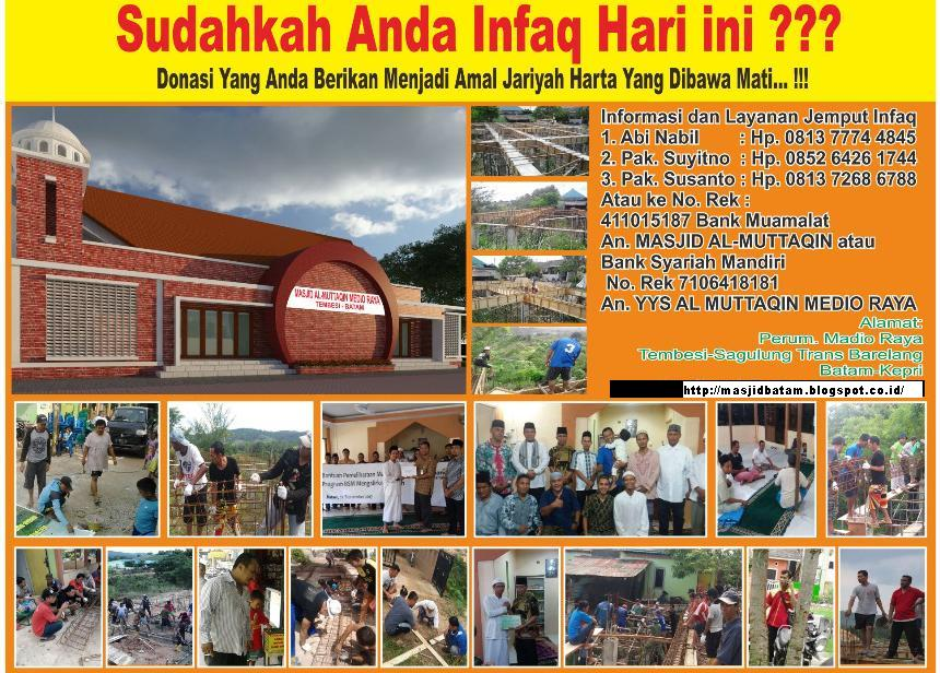 Amal Jariyah Pembangunan Masjid  ~ PLEASE DONATE US ~