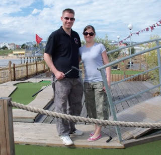 Richard & Emily Gottfried on the Minigolf course at Clacton Pier