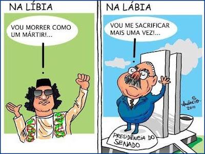 Cartum ilustrando o carater dos políticos