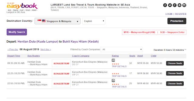 Pembelian Tiket Pengangkutan Secara Talian Di Easybook.com