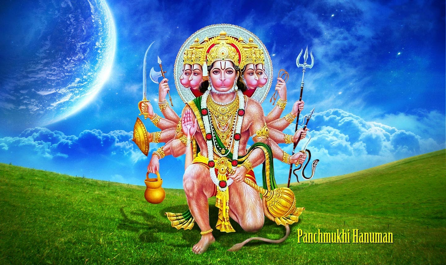 panchmukhi hanuman ji photos for desktop background