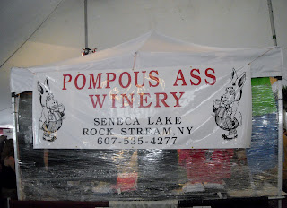 Pompous Ass Winery Stand