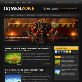 GameZone blog template. magazine blogger template style. magazine style template blogspot. download free 3 column footer blogspot template