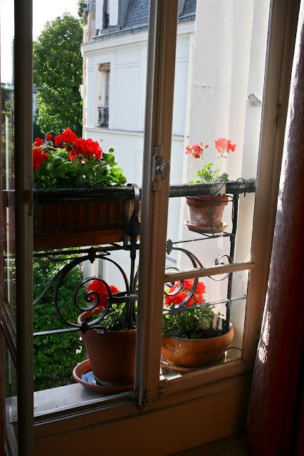 Paris through my lens g raniums dans la fen tre for La fenetre apartments