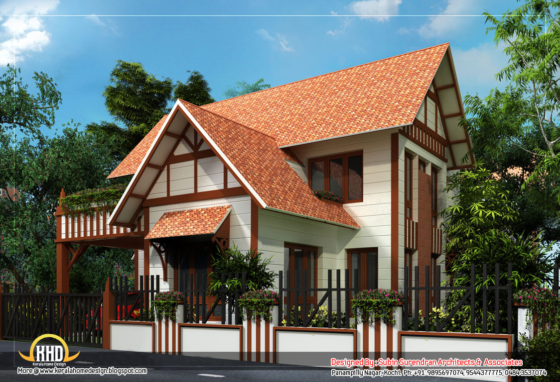 House design european - European Style Home Sloping Roof 2200 Sq Ft 204 Sq M