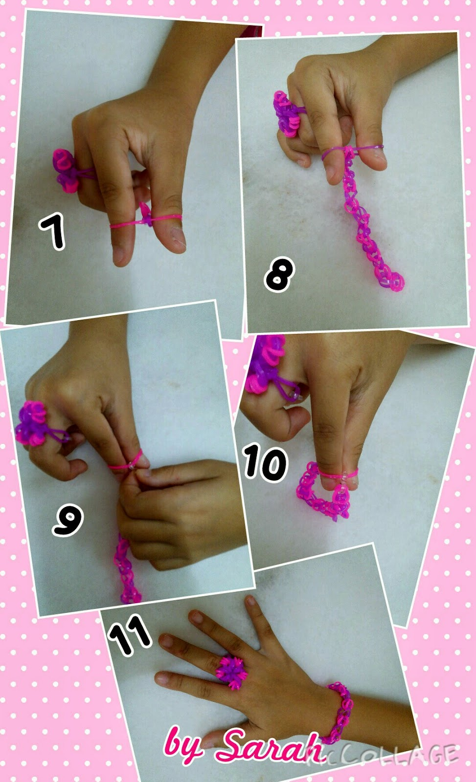 You Need 10 Purple Bands And Pink For A Simple Bracelet First Loop The Band To Your Thumb Twist It Make Cross