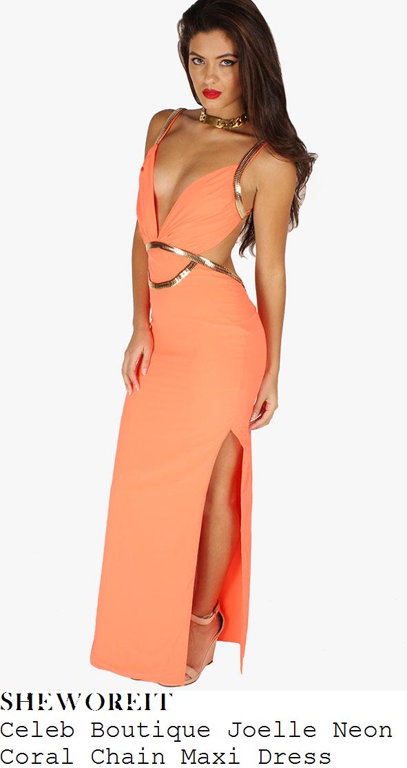 sam-faiers-orange-coral-chain-detail-maxi-dress